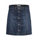 Jacqueline de Yong Jdysara skirt box dnm 15177517 medium blue denim blauw