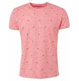 No Excess T-shirt s/sl, r-neck, slub, ao prin red rood