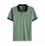 Scotch & Soda Classic clean pique polo mintgroen