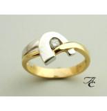Atelier Christian Wit- en ring met solitair briljant geel goud