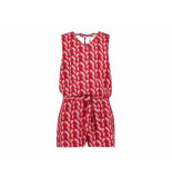Ai & Ko Jumpsuit flora graphic rood
