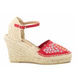 BTMR Sleehak sandalen rood