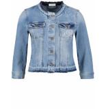 Taifun Jacket jeans woven bleach denim 330060-11143