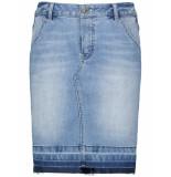 Taifun Skirt short woven fa bleach denim 310038-11143