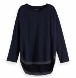 Scotch & Soda Amsterdams Blauw Loose fitted sweat