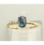 Atelier Christian Gouden ring met saffier geel goud