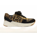 Paul Green Sneakers leopardino black camel bruin