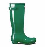 Hunter Regenlaars women original back adjustable gloss hyper green groen