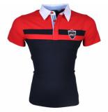 Montazinni Heren polo rood navy blauw