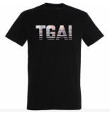 The Girl and Ibiza Tgai holographic t-shirt - zwart