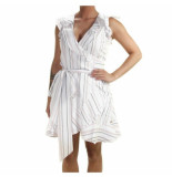 JOSH V Adira stripe dress wit