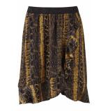 Saint Tropez Woven skirt on knee t8145 0001 zwart