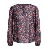 SET 689 5064002 blouse bloemenprint zwart