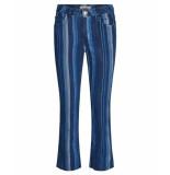 Mos Mosh Simon stripe jeans blauw