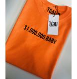 The Girl and Ibiza Tgai t-shirt $1m baby - oranje