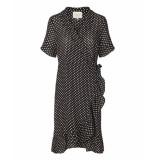 Lollys Laundry 19189 2078 amber jurk zwart