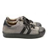 EB Shoes 1043 lage veterschoen grijs
