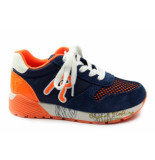 Replay Barrell low. sneaker oranje