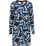 IZ NAIZ Dress jogg 3566 graphic navy blauw