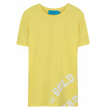 FRANZEL AMSTERDAM : in gold we trust logo onder t-shirt - geel