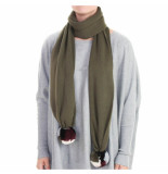 Reinders Reiders pompom shawl groen