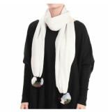 Reinders Reiders pompom shawl wit