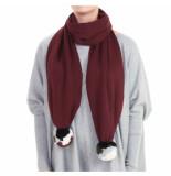 Reinders Reiders pompom shawl rood