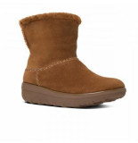 FitFlop Boot supercush mukloaff shorty suede chestnut bruin