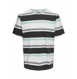 Only & Sons Onslex ss reg striped tee 22012625 white/navy/grey/green
