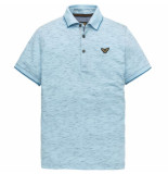 PME Legend Short sleeve polo structure jacqua sky blue blauw