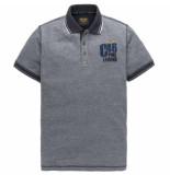 PME Legend Short sleeve polo two tone pique dark sapphire blauw
