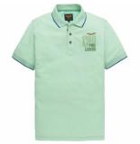 PME Legend Short sleeve polo two tone pique opal groen