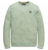 PME Legend Crewneck cotton polyester melange aqua foam groen