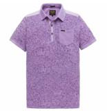 PME Legend Short sleeve polo light pique lavender crystal paars