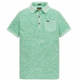 PME Legend Short sleeve polo light pique opal groen