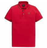 PME Legend Short sleeve polo stretch pique chinese red rood
