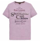 PME Legend Short sleeve r-neck tshirt lavender crystal paars