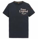 PME Legend Short sleeve r-neck slub jersey t- dark sapphire blauw