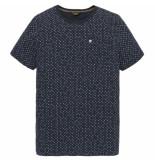 PME Legend Short sleeve r-neck single jersey dark sapphire blauw