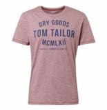 Tom Tailor Heren tshirt ronde hals paars