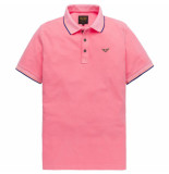 PME Legend Short sleeve polo stretch pique paars