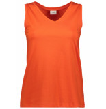 Jacqueline de Yong Jdymolly s/l v-neck top jrs 15174646 orange com oranje