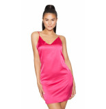 LA Sisters Satin cami dress - roze
