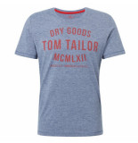 Tom Tailor Heren tshirt ronde hals donker blauw