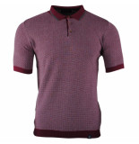 Tom Tailor Heren polo gebreid maurito bordeaux