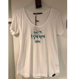 Penn & Ink S18f261ltd 121/426 ny t-shirt print yoghurt - sea blue wit