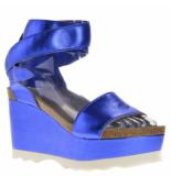 Genuins Sandalen sleehak blauw