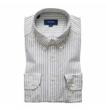 Eton Overhemd gestreept slim fit grijs