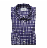 Eton Overhemd navy contemporary fit blauw