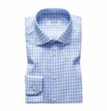 Eton Overhemd licht geruit contemporary fit blauw